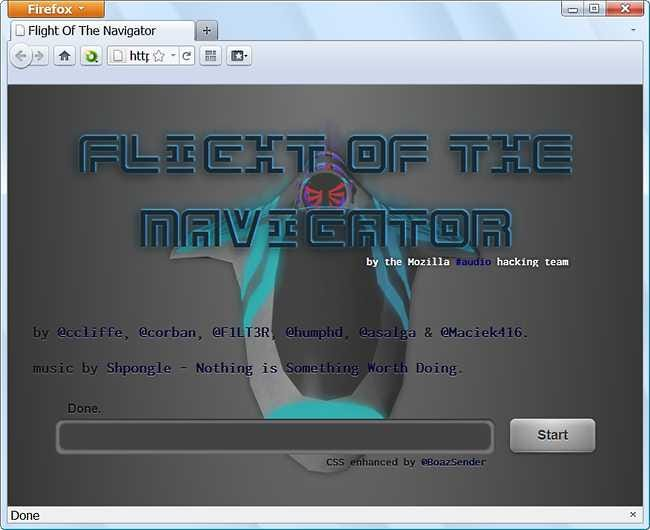 Awesome WebGL Demo – Flight of the Navigator from Mozilla - Tips