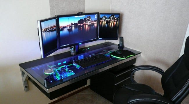 Awesome Computer Case Desk Build Stashes Cpu In Plain