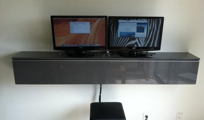 Hack An Ikea Dvd Rack Into A Sleek Wall Mounted Work Station Tips