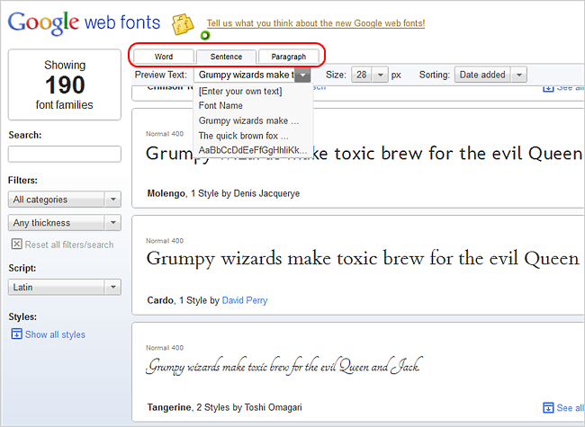 Download Your Favorite Google Web Fonts to Install on Your Computer