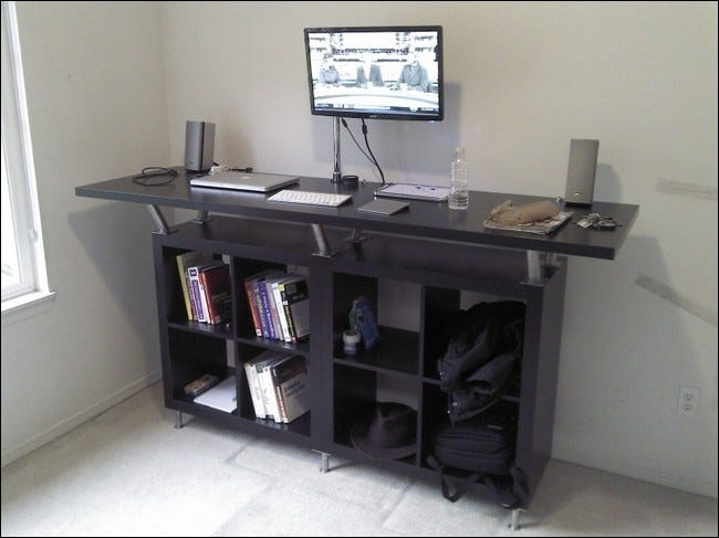 Bon Diy Ikea Standing Desk Offers Space Storage And