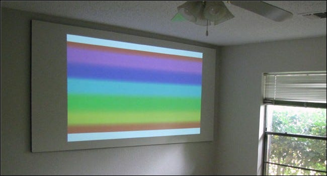 Diy high gain projector screen combines latex paint and for Paint projector screen