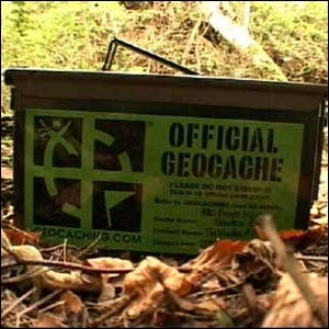 An example of a surplus ammo tin used as a geocache