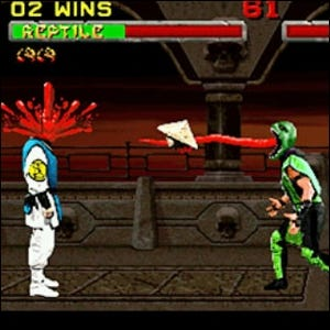 Example of a fatality in Mortal Kombat