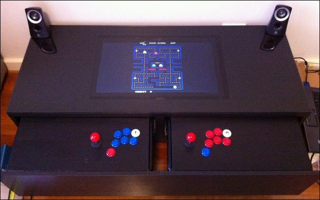 DIY Coffee Table Arcade Hides Retro Gaming Inside