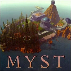 Original cover of the Myst video game