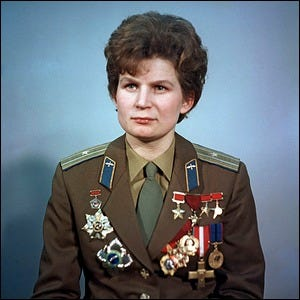 Valentina Tereshkova, pilot-cosmonaut, first female cosmonaut, Hero of the USSR. Pictured as a Major of the Soviet Air Forces.