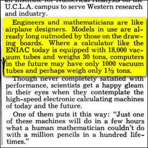 An article clipping from Popular Mechanics