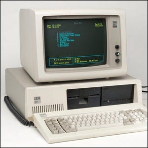 Example of an IBM PC/XT with optional floppy drive