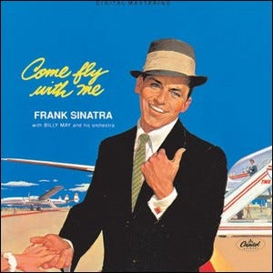 Album cover of the Frank Sinatra album Come Fly with Me