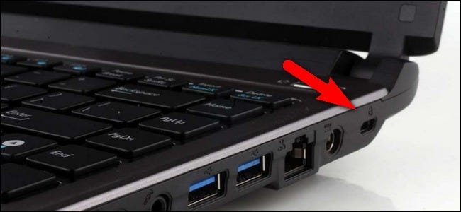 historically laptops included a slot in the side for attaching