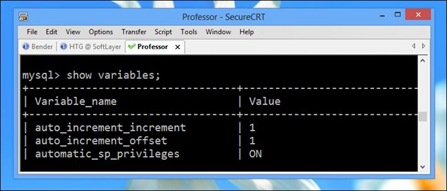 How to Display System Variables for Your MySQL Server