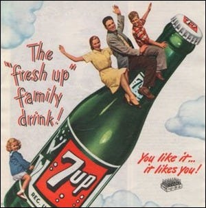 A vintage 7 Up advertisement