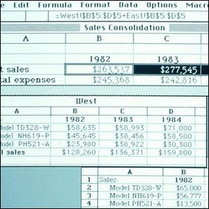 Screenshot of Excel 1.0