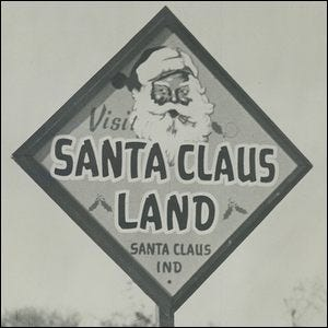 Advertisement for Santa Claus Land