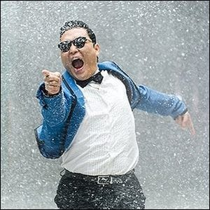 Still image from the Gangnam Style music video