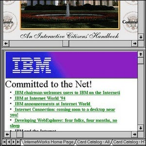 Example of the first tabbed web browser interface