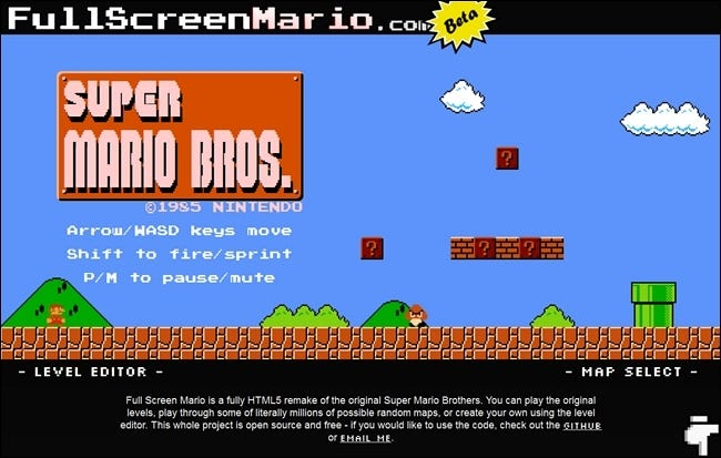 Play a Complete HTML5 Version of Super Mario Bros  Online for Free