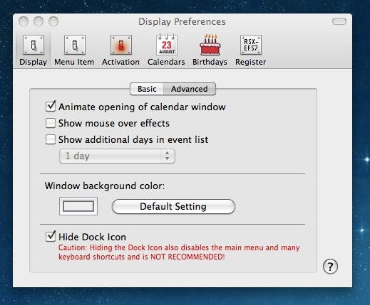Make the Mac OS X Clock Show a Drop-Down Calendar - Tips