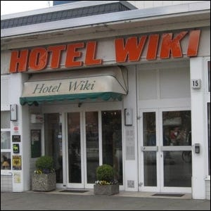 "Picture of the actual ""Hotel Wiki"" in Hamburg"