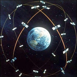 Concept artwork for the GPS system from the Department of Defense