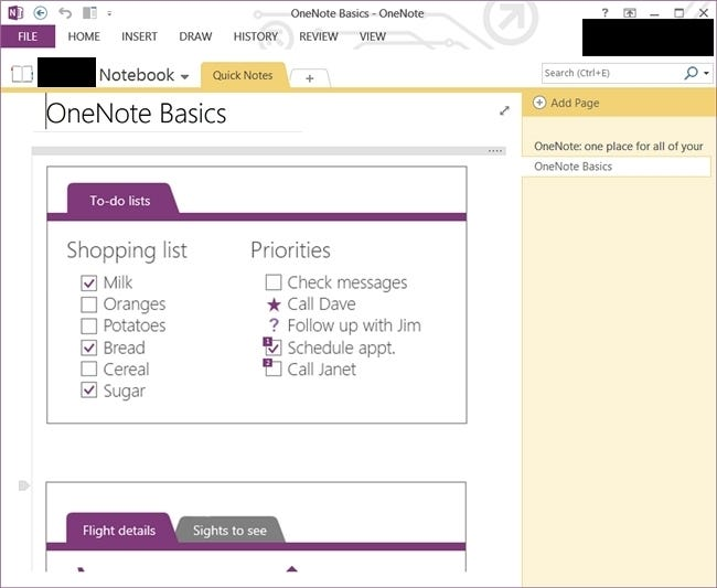 onenote truly free features