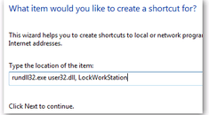 Create a Shortcut for Locking Your Computer Screen in Windows 7 or Vista
