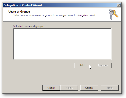 Using the Delegation of Control Wizard to Assign Permissions